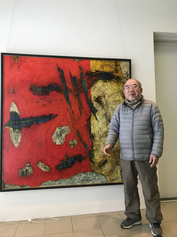 記事 西区在住の洋画家 烏頭尾 寧朗(うとおやすお)さん(西区 狩場台)のアイキャッチ画像