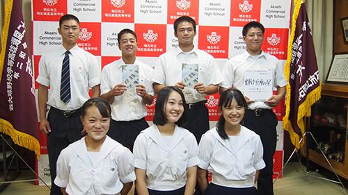 記事 神戸山手女子高校から、選抜高等学校野球大会歌「今ありて」のDVDを贈呈のアイキャッチ画像
