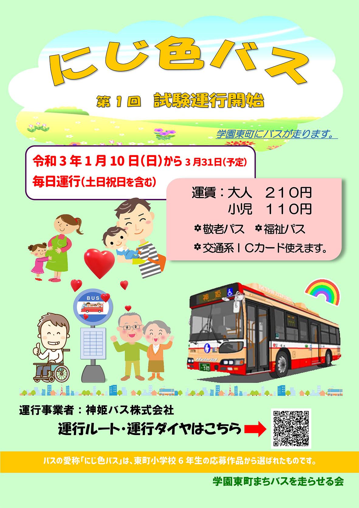 記事 R3.1/10より 西区学園東町コミュニティバス試験運行開始のアイキャッチ画像