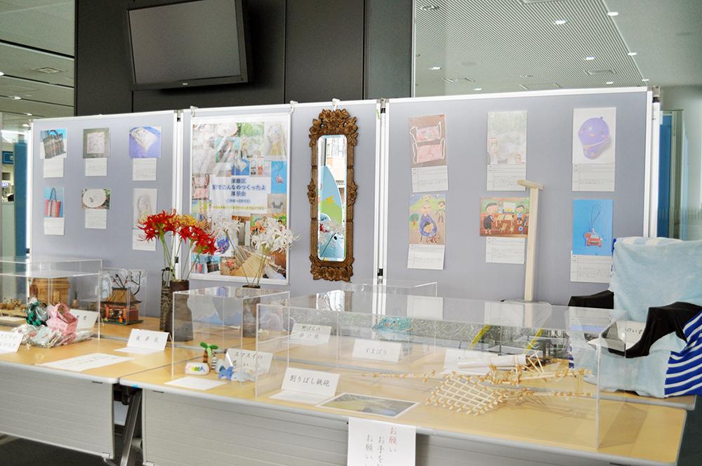 記事 「家でこんなのつくったよ」展示会 須磨区役所正面玄関口のアイキャッチ画像